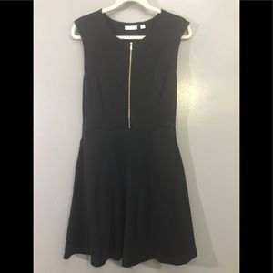 NY&CO Fit and Flare Black Dress